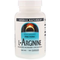 Source Naturals - L-Arginine, Free Form, 500 mg, 100 Capsules