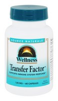 Source Naturals - Wellness, Transfer Factor, 125 mg, 60 Capsules